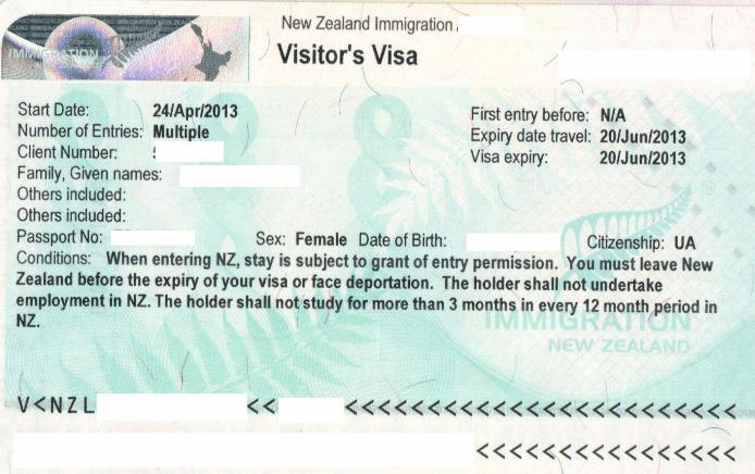 Рабочая виза Новой Зеландии