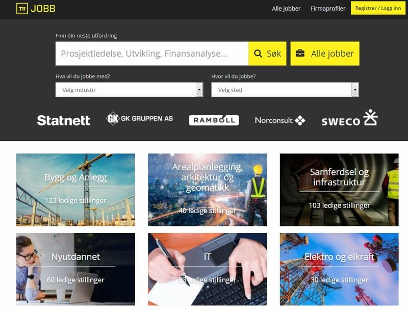 Сайт вакансии в Норвегии