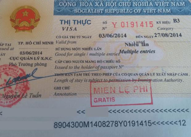 Рабочая виза во Вьетнам
