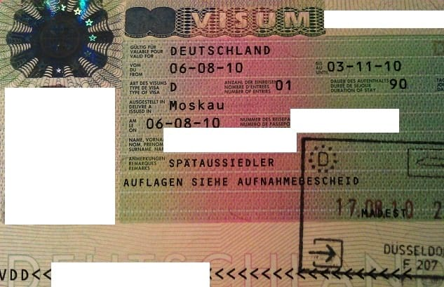 Виза в германию тип Д