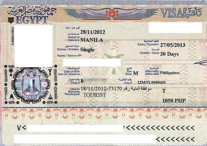 Рабочая виза Египет