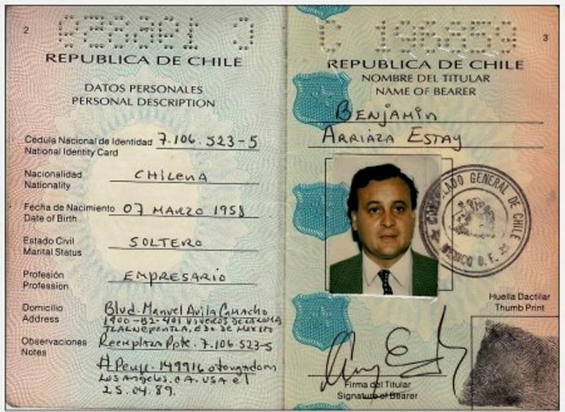 Чилийский паспорт