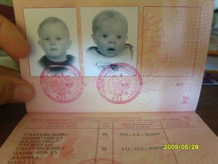 Фото детей в паспорте родителя