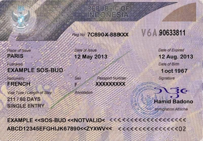Индонезийская долгосрочная виза