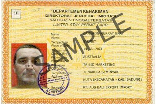 Индонезийский КИТАС