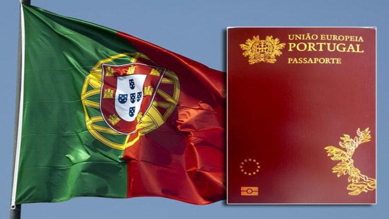 Флаг и паспорт Португалии
