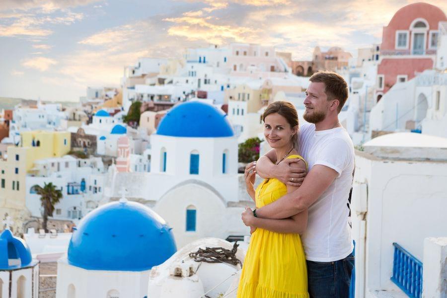 Семейная пара в Греции