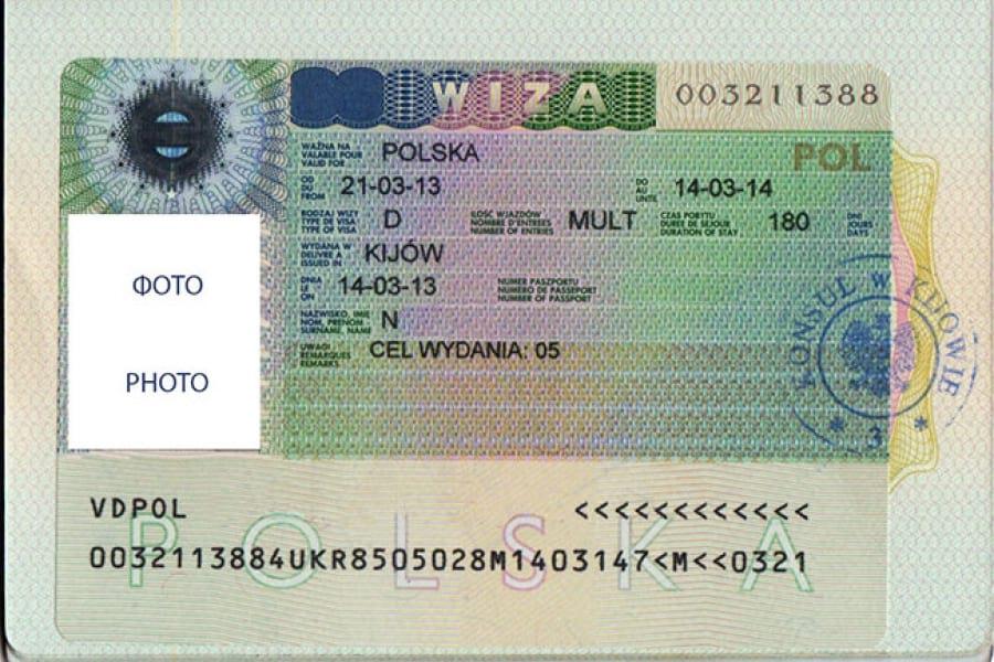 виза D Польша