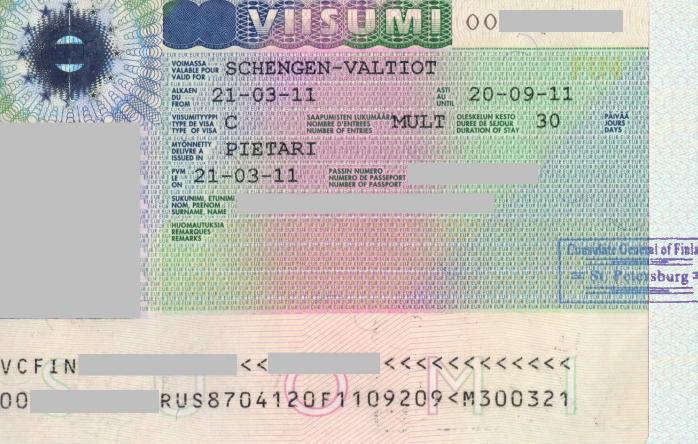 виза Финляндии