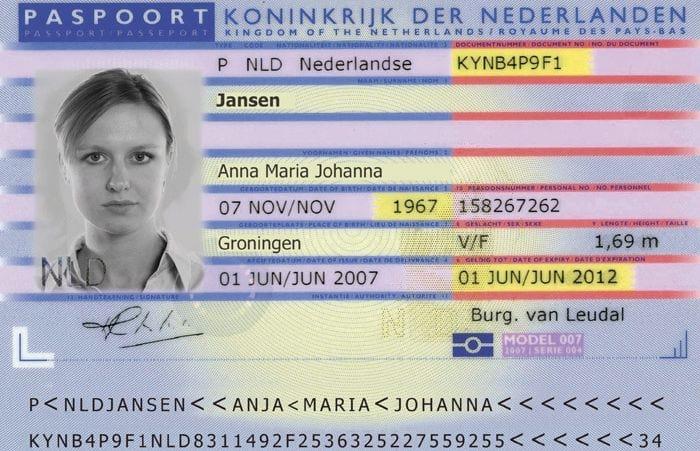 Биометрический паспорт Нидерландов