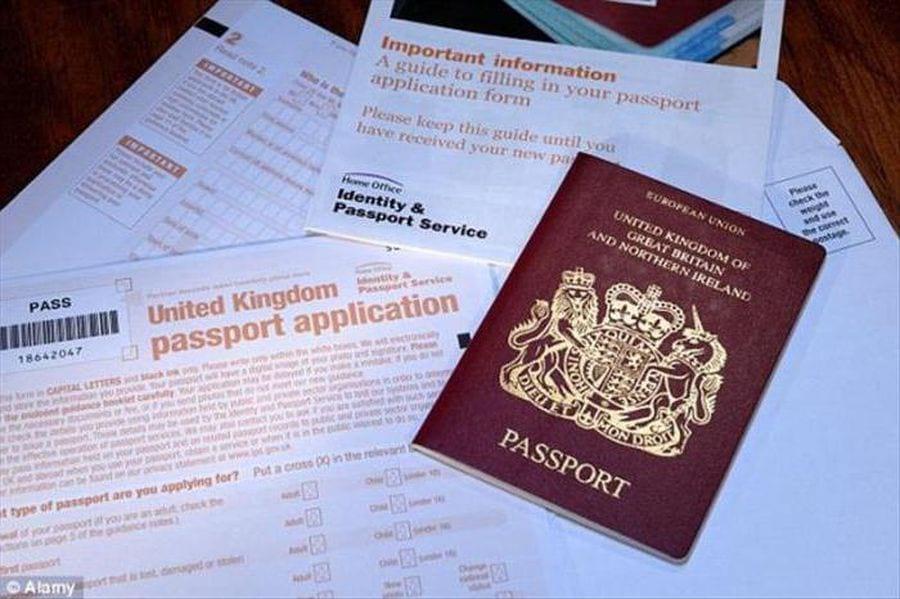 Паспорт Великобритании и документы