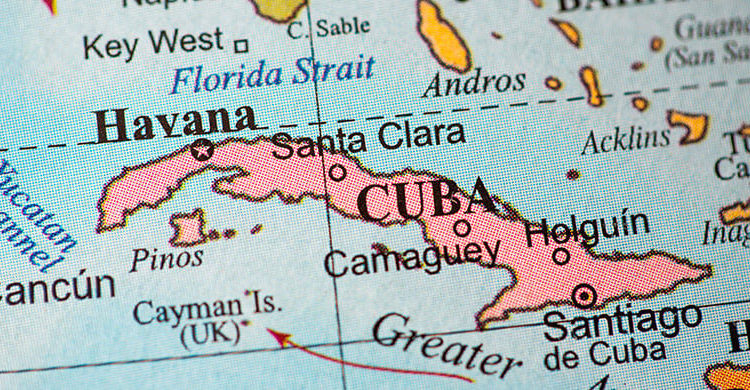 Куба на карте