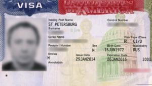 Пример транзитной визы