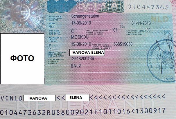 Шенгенская виза C в Голландию