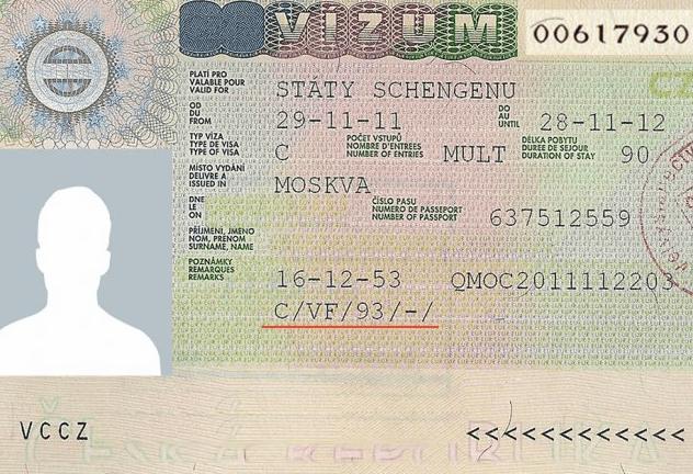 Шенгенская виза категории С в Чехию