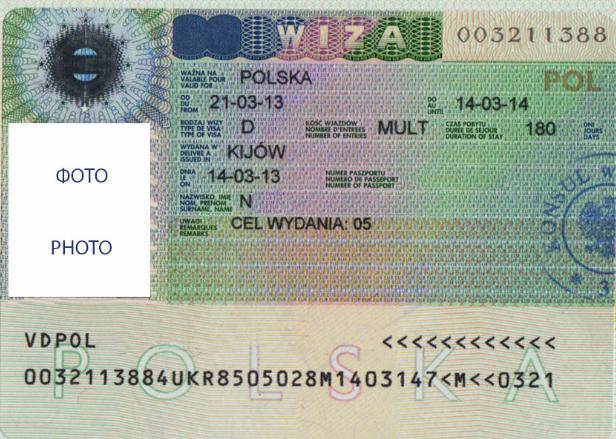 Шенгенская виза тип С в Польшу