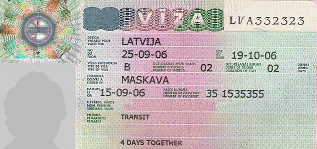 Транзитная виза в Латвию