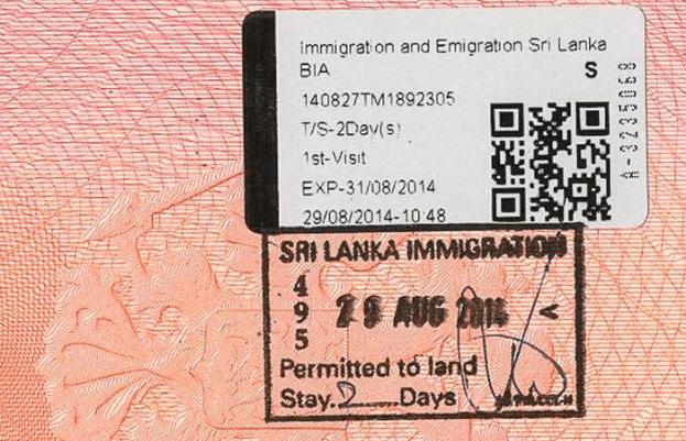 Туристическая виза на Шри-Ланку