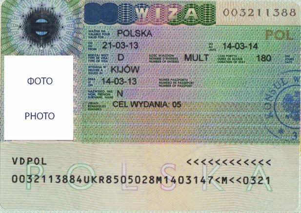 Виза тип С в Польшу