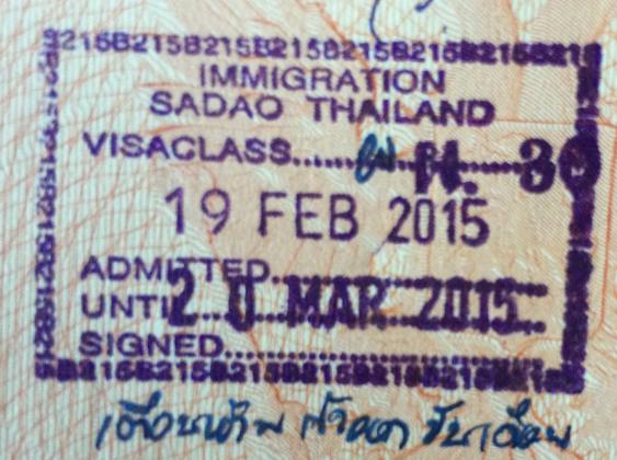 Запрет на бордер ран на сухопутной границе Таиланда