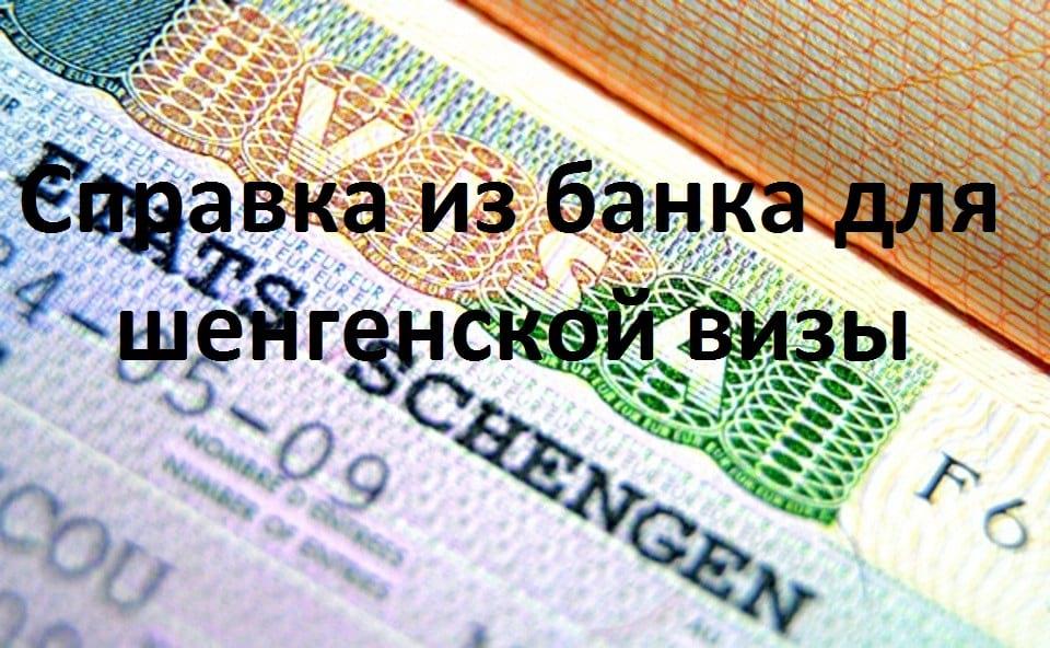 Выписка из банка для шенгенской визы: сумма и срок действия