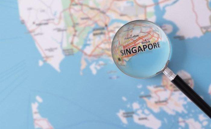Сингапур на карте