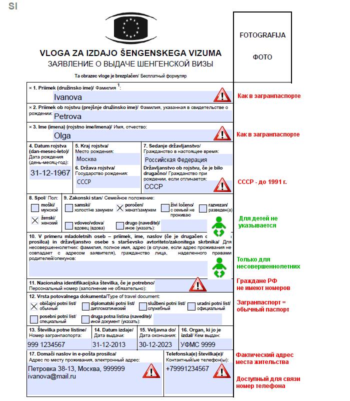 Оформление визы в Словению