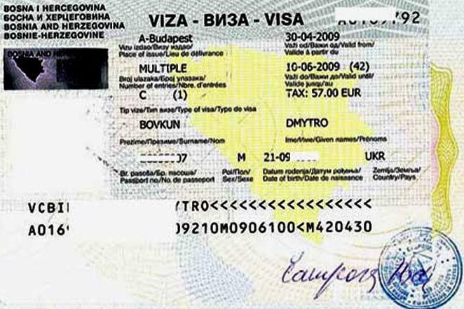 Боснийская виза