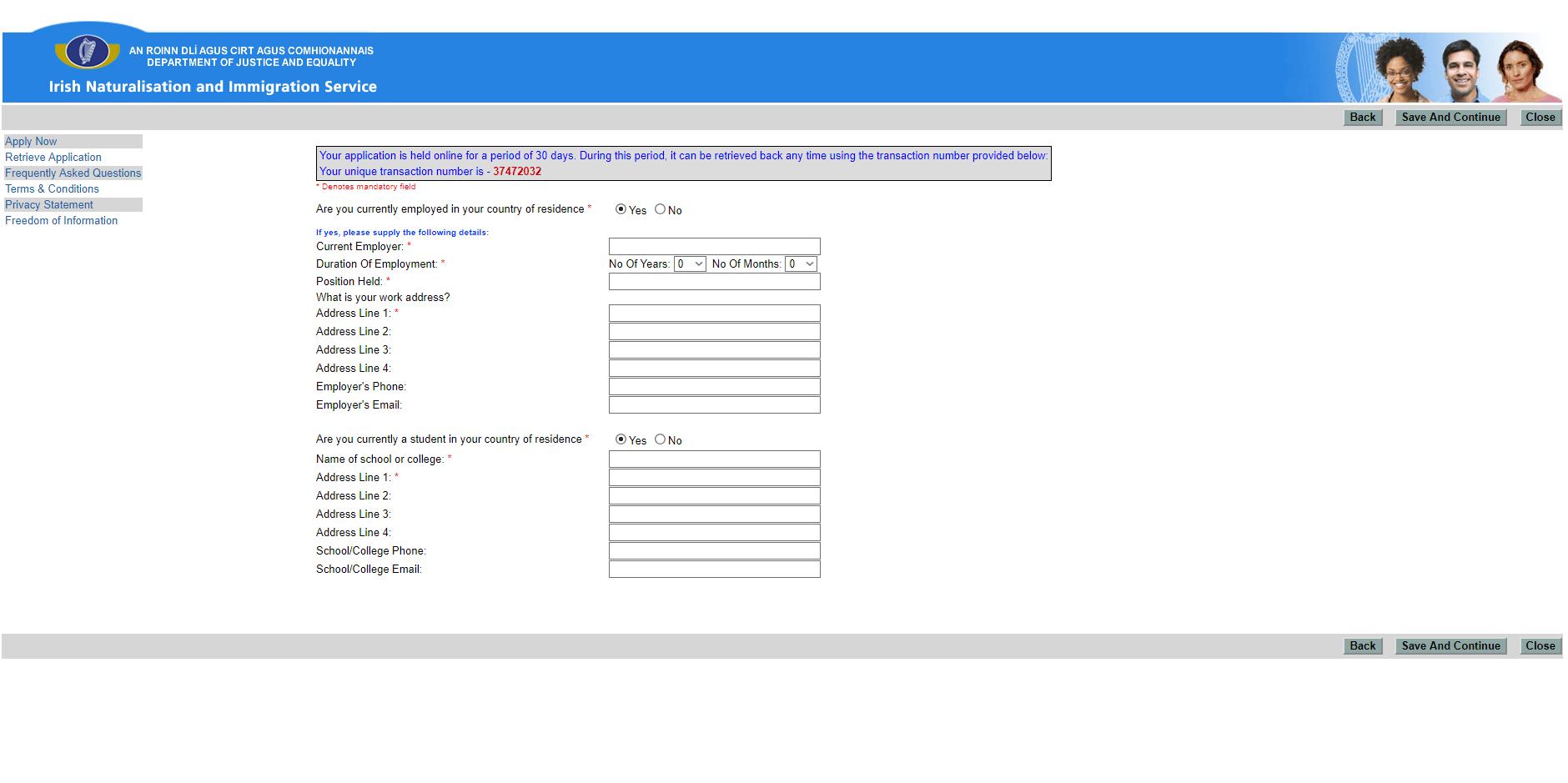 Документы для заполнения визы в Ирландию