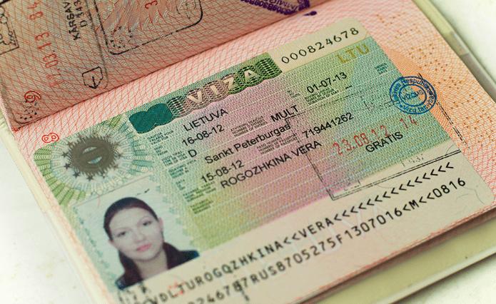 Литовскач виза D
