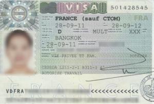 Национальная виза категории Д Франция