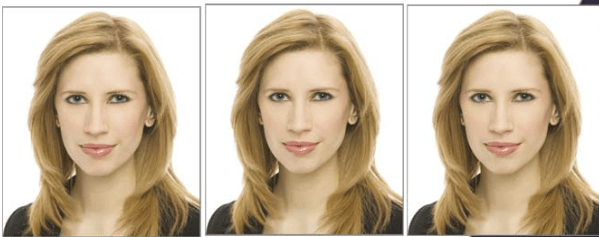 Три фото паспортного формата