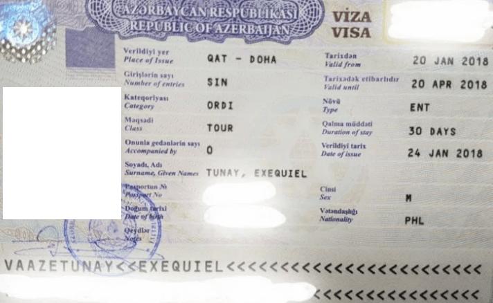 Туристическая виза в Азербайджан
