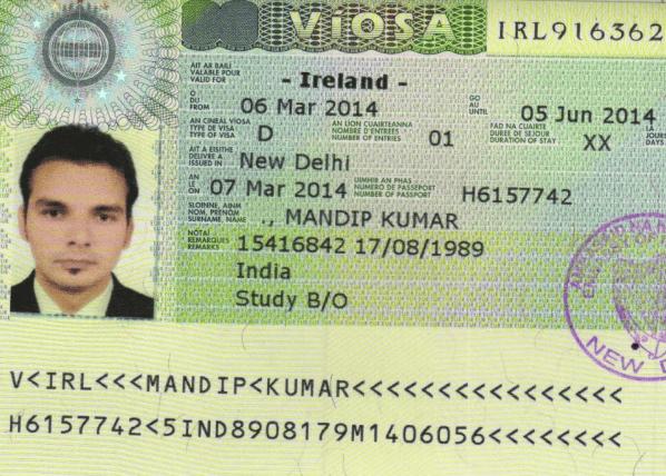 Виза в Ирландию «D»
