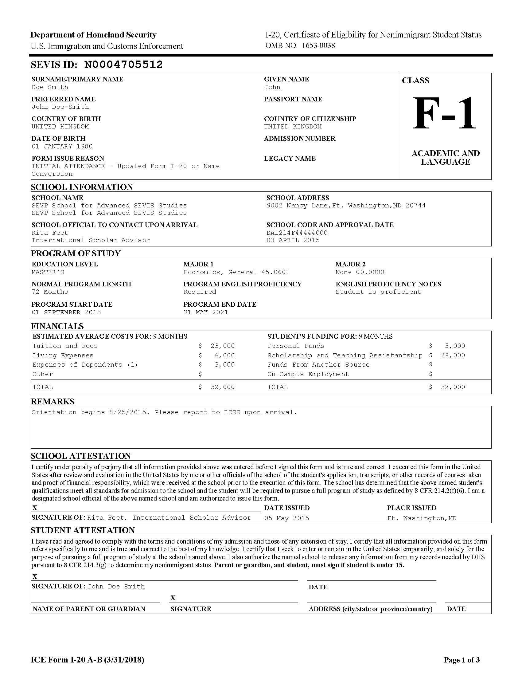 Студенческая виза F-1 в США