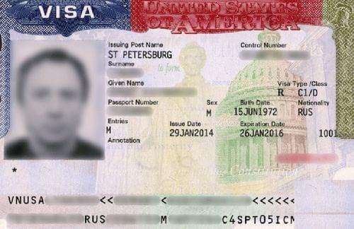 Американская виза категории «D»