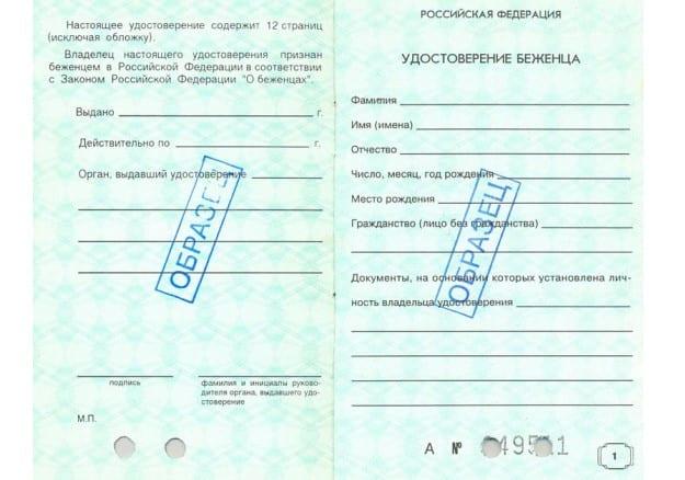 заявление на предоставление убежища в РФ
