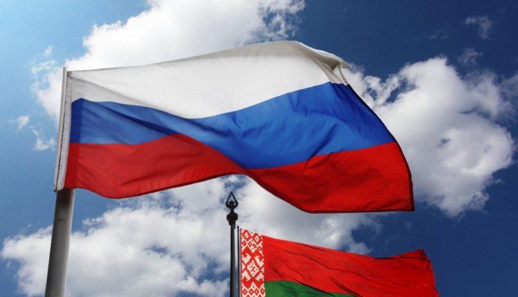 Флаги Беларусь-Россия