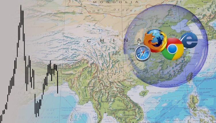 Китай на карте