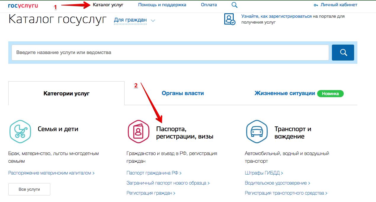 Оформление паспорта онлайн