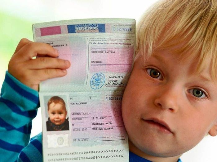 Детский биометрический россия паспорт