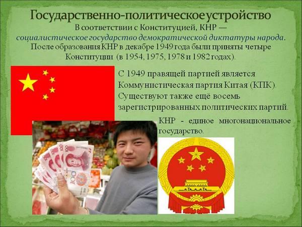 Китайская Народная Республика (КНР): дата основания и форма правления